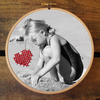Personalised photo embroidery hoops by tjou-tjou