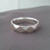 Faceted Silver Gents Ring by La Mae Jewellery