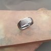 T1 Beveled Edges Tungsten Ring by La Mae Jewellery