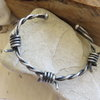 Solid Silver Barbwire Men's Bangle  by Mignon Daubermann Jewellery Design