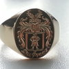 The Traditional Oxford Family crest signet ring by www.hallmarkinternational.co.za