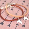 Africa leather bracelet - 12 different colour options in genuine leather by Eden