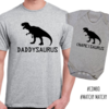Matching dinosaur dad and baby combo/Personalised / Daddysaurus / Babysaurus / Father and baby matching outfit  by Little Lion Cub Studio