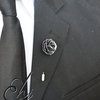 Sterling Silver Rose Lapel Pin by Eon Hoon Jewellery Design