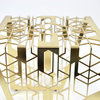 Bend - Brass Side Table by Leg Studios