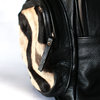 Marcus Zebra Skin Leather Backpack by Modern & Tribal Designs