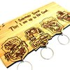 School of Witchcraft and Wizardry Keychain Set by HALLO JANE