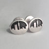 Silver Jozi Skyline Cufflinks by Duke & Dutch
