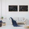 Moody Leaves Print Set | Collection 7 | A2 | Wall Art Home Decor | Leaves | Foliage | Botanicals | Navy Blue | Nature | Wood | Neutral by Sonny Mo Arts