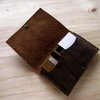 Passport Wallet in Crazy Horse Leather by Vincent Leather