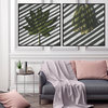 Playing With Shadows Photography Print Set | 60x60cm | Collection 1 | Greenery | Leaves | Fynbos | Botanicals Wall Art Home Decor | Interior | Pink Blush | Grey | Modern by Sonny Mo Arts