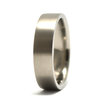 Plain square Titanium band by Rings & Things