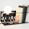 Transforma - Black Bedside Book Shelf with Light Fitting by Leg Studios