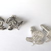 sterling Silver Protea Cufflinks by Artistic925Jewellery