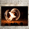 Fire Dancer on Canvas by Vermeulen Photography