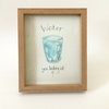 Water you looking at? (framed print) by Josephine Draws