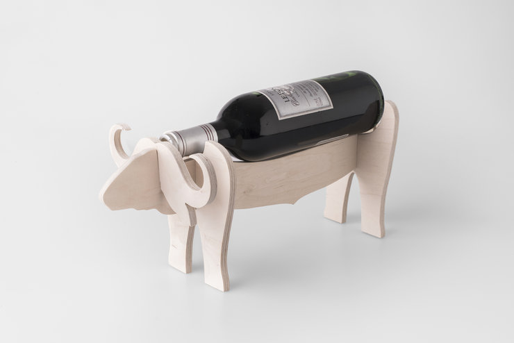 Buffalo Wine Holder  by Native Decor