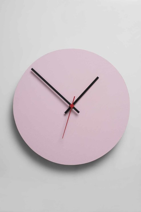 Round Clock (Pink) by Native Decor