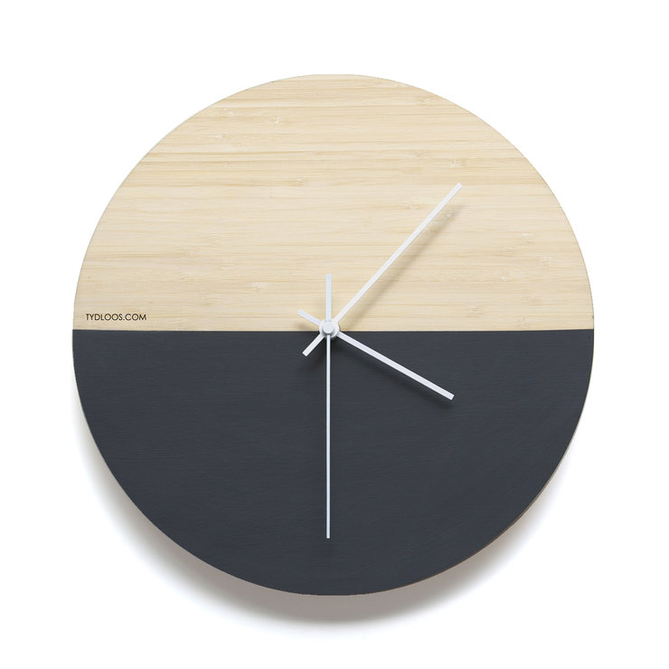 Black Hemisphere Wall Clock by TYDLOOS.COM