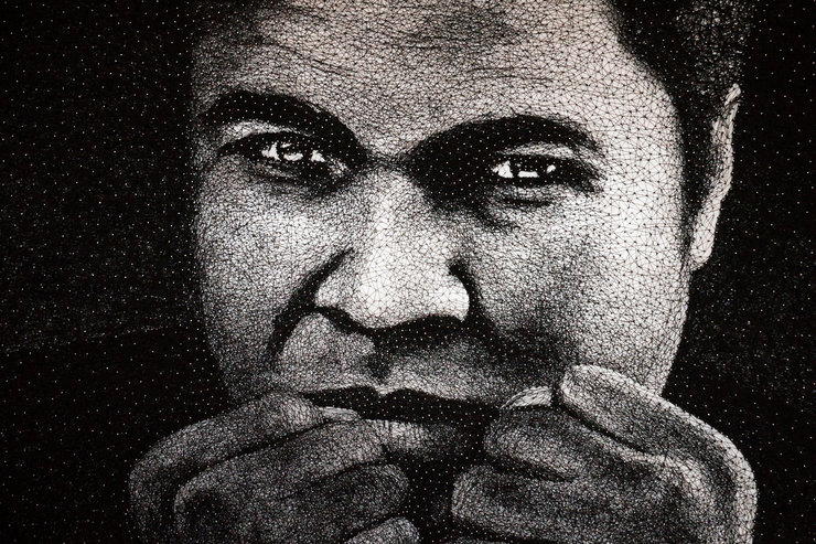 "Muhammad Ali - Modern String & Nail Art - ""Forever the Greatest"" by From Me To Me"
