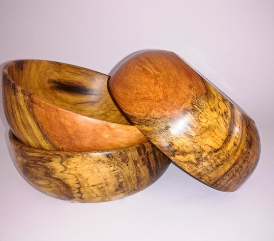 Wooden Bowl Set by bykrause