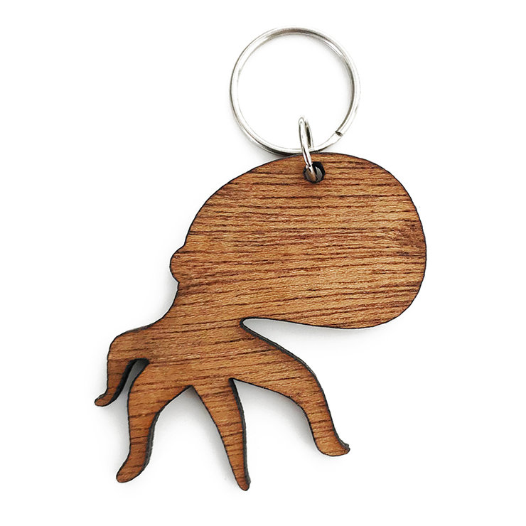 Octopus Wooden Keyring by Wood Be Nice