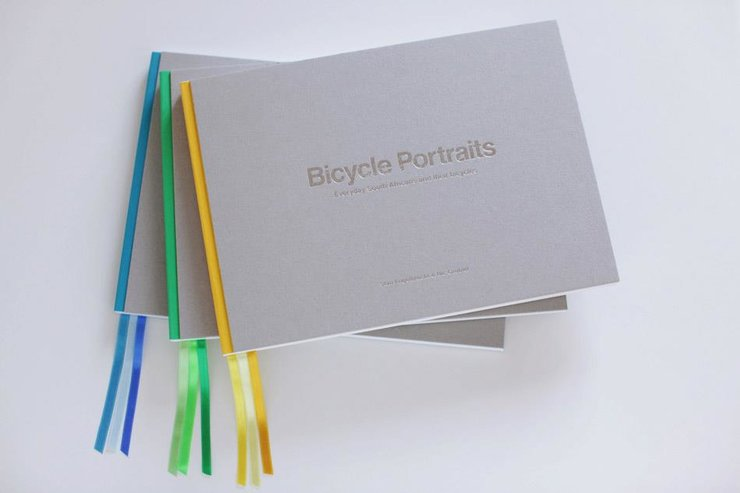 Blue 'Bicycle Portraits' book by Bicycle Portraits