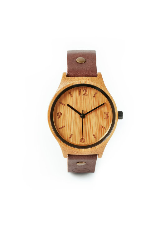 Original Natural Watch- Brown Single  by Bamboo Revolution
