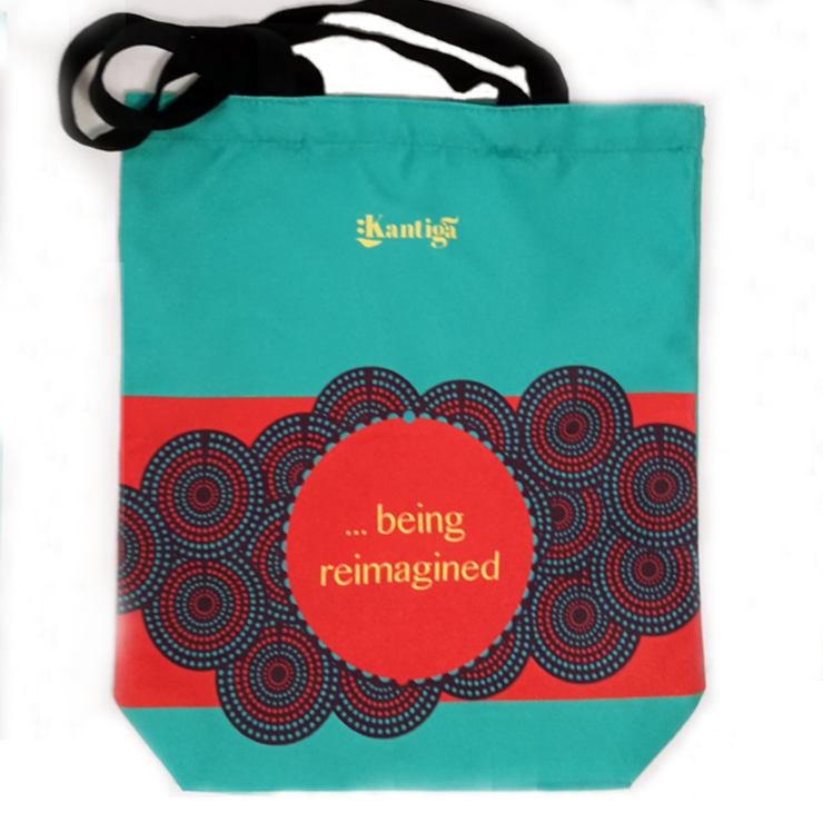 Being Reimagined Blue Tote Bag by Kantiga