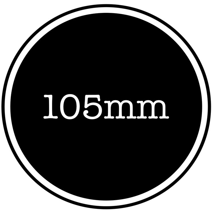 105mm vinyl sticker by Lens Tag