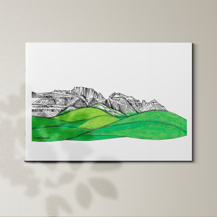 Cathkin Peak - A3 by Art From Adventures