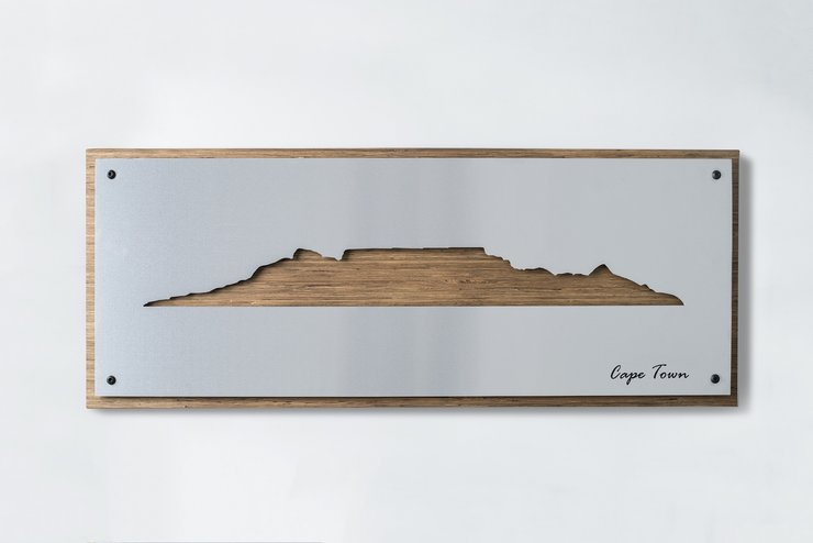 Cape Town Skyline - Brushed Aluminium by Native Decor