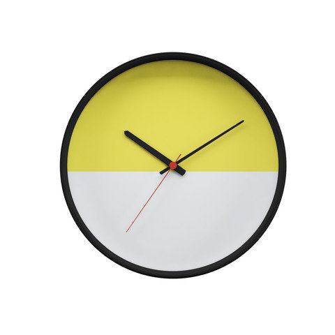 Yellow & White Wall Clock by Hip & Tony