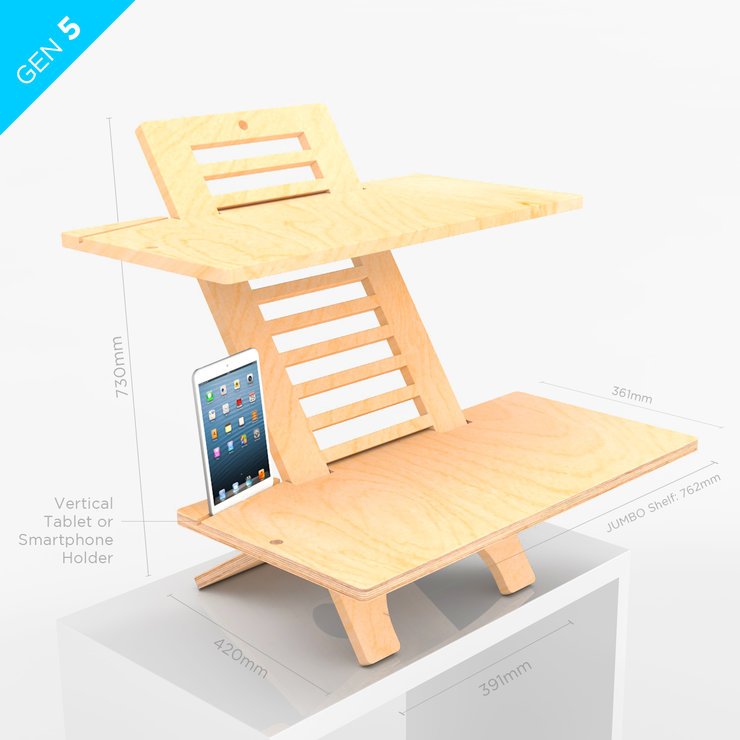 JUMBO DeskStand – Standing Desk is a Sit-Stand desk  by DeskStand - Height Adjustable Standing Desk