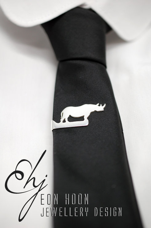 Rhino Tie Clip by Eon Hoon Jewellery Design
