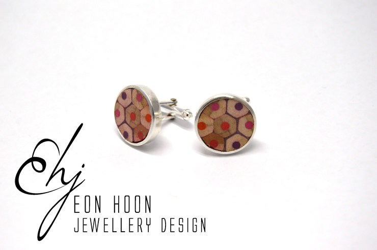 Red Pencil Cufflinks by Eon Hoon Jewellery Design