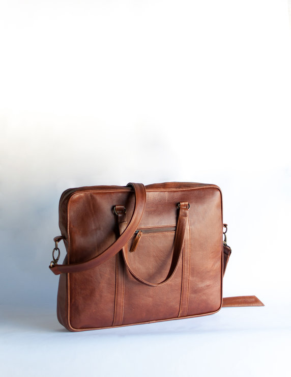 Dexter Leather laptop bag by modern and tribal designs