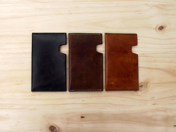 Notebook Sleeves for A6 Moleskine in Veg Tan Leather by Vincent Leather