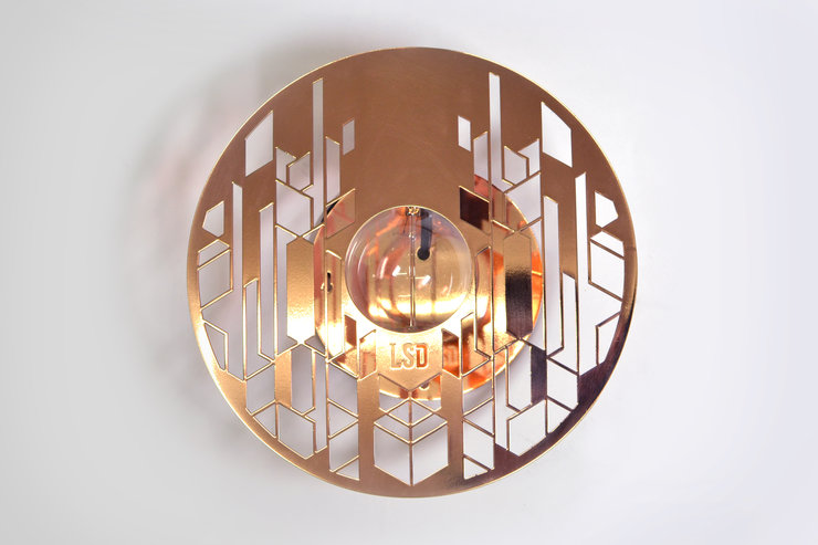Halōs - Copper Wall Light by Leg Studios