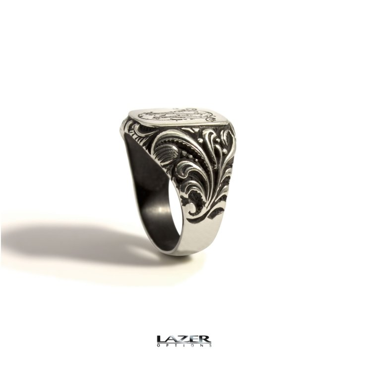Silver Signet Ring by Lazer Options