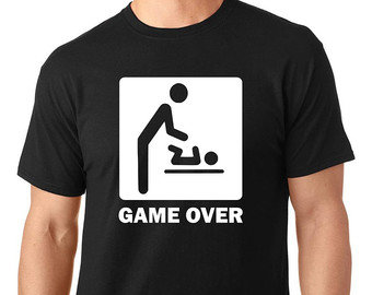 GAME OVER dad to be T-Shirt/ New dad / Future Dad / Novelty T-Shirt/ Nappy Braai Gift/ Baby Shower Gift/ Dad to be by Little Lion Cub Boutique