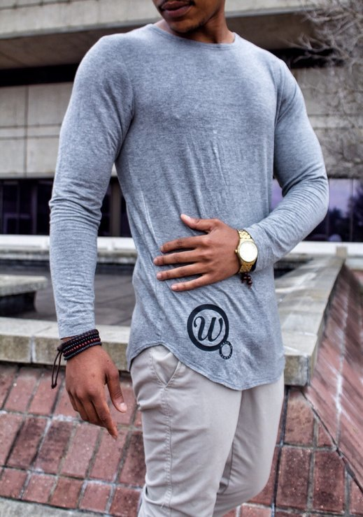 Grey Long Sleeve Shirt by Walk In Closet - WIC