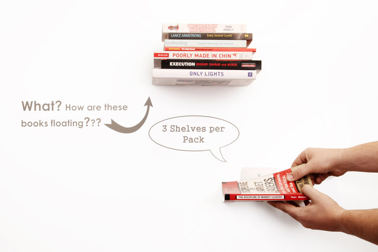 Floating Bookshelves (Set of three) by Emerging Creatives