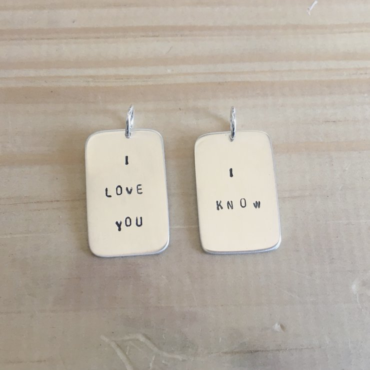 I love you. I know.  by Aurea Jewellery Design