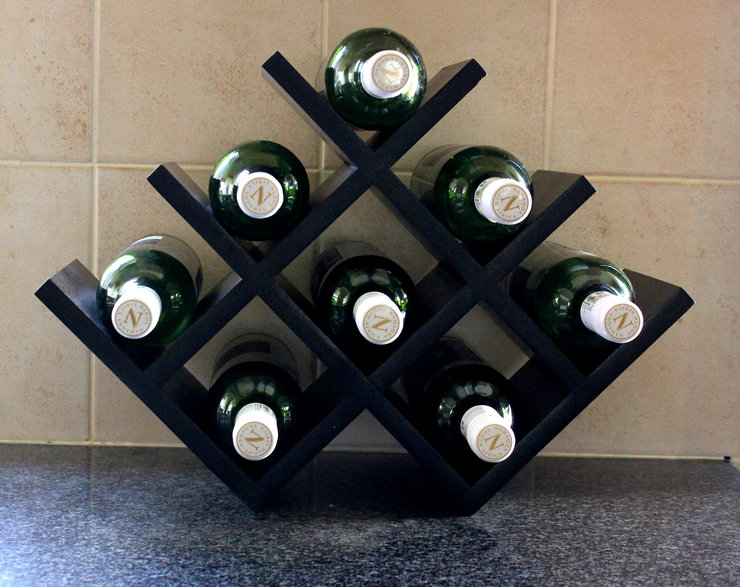 Free Standing Wine Shelf by B&K Design & Decor
