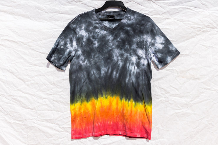 Fire Smoke and Ash Tie Dye Shirt by I Heart Colour