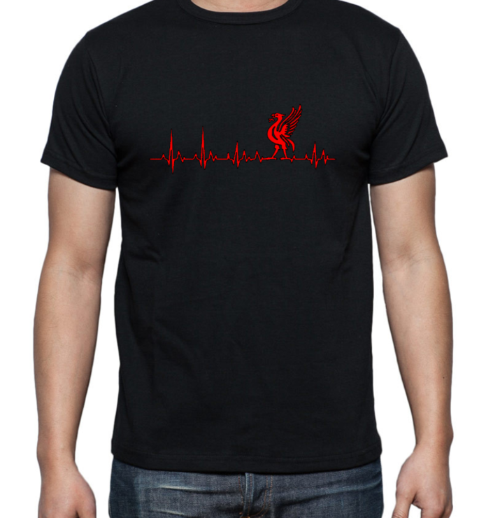 LIVERPOOL Heartbeat Adult T-shirt / YNWA / Liverpool Novelty T-Shirt/ Gift   by Little Lion Cub Boutique