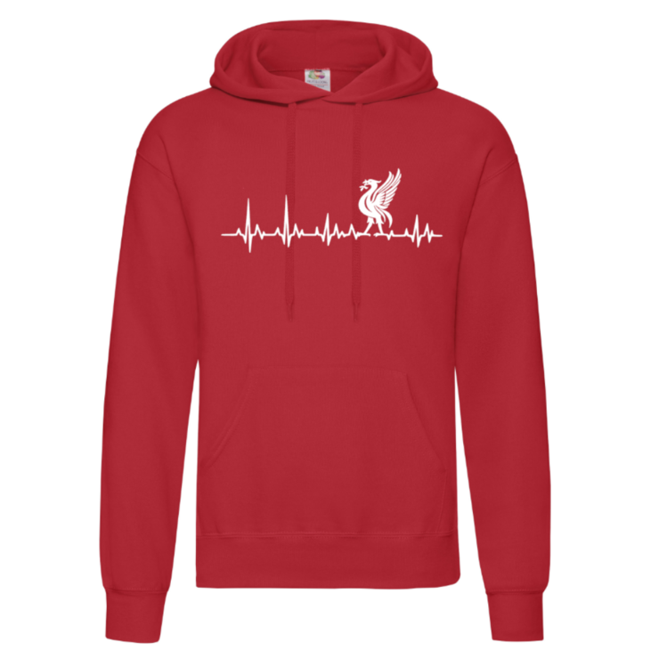 LIVERPOOL Heartbeat Adult Hoodie/ YNWA / Liverpool Novelty Hoodie/ Gift  by Little Lion Cub Boutique