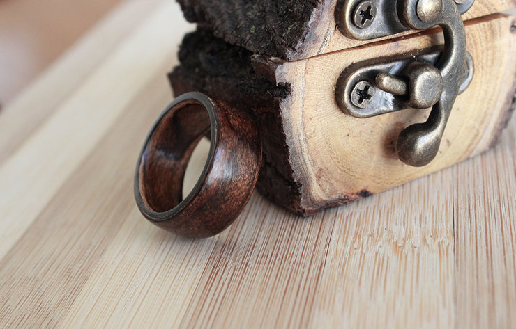 Medium Maple- Solid Wooden ring by Oh my woodness