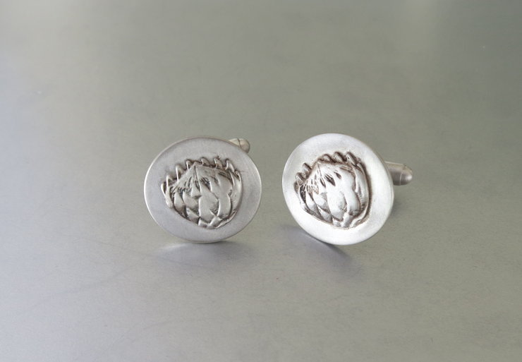 Sterling Protea Cufflinks by Artistic925Jewellery